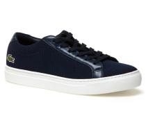Damen-Sneakers L.12.12 aus Piqué-Canvas mit Leder-Akzenten