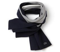 Damen-Schal aus Wolle und Baumwolle im Colorblock-Design