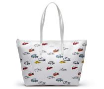 Große Damen-Tote-Bag L.12.12 CONCEPT mit Krokodil-Aufdruck