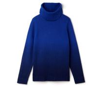 Damen-Rollkragenpullover aus Wolljersey im Dip-Dye-Look