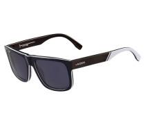 Schwarze Sonnenbrille in Holz-Optik LT12