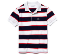 Classic Fit Lacoste-Kinder-Polo aus gestreiftem Jersey