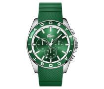 Uhr mit Chronograf und grünem Silikonarmband Westport