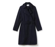 Damen-Mantel aus Gabardine mit Gürtel