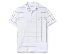 LACOSTE Regular Fit Herren-Polo aus Baumwoll-Piqué mit Netzmuster