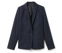 Damen-Jacke aus Stretch-Piqué mit Knöpfen und melierten Akzenten