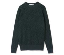 Damen-Rundhalspullover aus Baumwollmischung im Used-Look