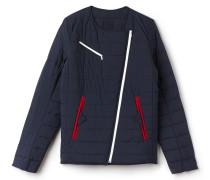 Rundhals-Jacke aus gestepptem Taft
