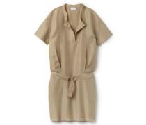 Damen-T-Shirt-Kleid aus Canvas mit Gürtel