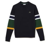 Herren Sweatshirt aus Ottoman-Strickware mit Colorbloc