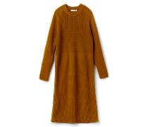 Damen-Kleid mit Stehkragen aus gerippter Wolle Runway collection
