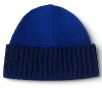 Damen-Mütze aus Jersey im Dip-Dye-Look