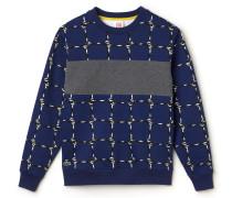 Herren-Fleece-Sweatshirt mit Rundhalsausschnitt und Druckmotiv LACOSTEL!VE