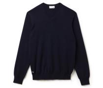 V-Pullover aus Seiden-Jersey-Mischung