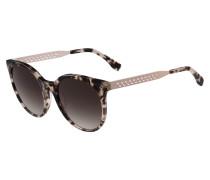 Rosa Schildpatt-Sonnenbrille mit Metallbügeln
