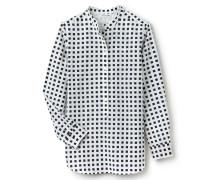 Damen-Bluse aus fließendem Voile aus Baumwolle und Seide