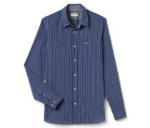 SlimFit Herren-Hemd aus fein gestreifter Baumwollpopeline