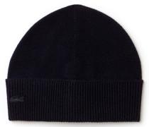 Herren-Mütze mit umgeschlagenem Saum aus Wolle und Jersey