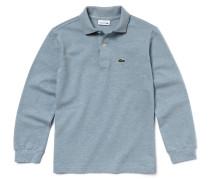 Langärmliges Jungen-Polo aus Baumwoll-Piqué