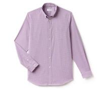 Regular Fit Herren-Hemd mit Vichy-Muster