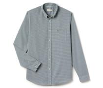 RegularFit Herren-Hemd aus fein karierter Popeline