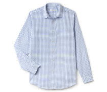 RegularFit Herren-Hemd aus sehr fein karierter Popeline