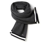 Damen-Schal aus Wollmischung mit Zopfstrickmuster
