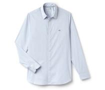 SlimFit Herren-Hemd aus dehnbarer gestreifter Baumwollpopeline