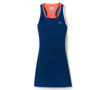Damen-Tennis-Kleid aus dehnbarem Jersey LACOSTESPORT