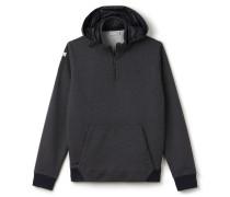 Herren-Sweatshirt mit Reißverschlusskragen und abnehmbarer Kapuze