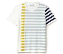 Damen-T-Shirt aus fließender Milano-Strickware mit Streifen