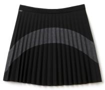 Damen-Plissee-Rock aus Wollmischung im Colorblock-Design
