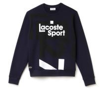 Herren-Fleece-Sweatshirt mit grafischem Druckmotiv LACOSTESPORT