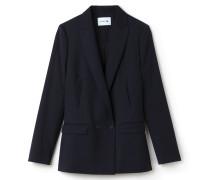 Damen-Jacke aus Woll-Piqué mit geradem Schnitt und Knöpfen