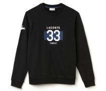 Herren-Sweatshirt aus Baumwollfleece mit Rundhalsausschnitt und Druckmotiv
