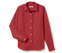 RegularFit Damen-Bluse aus Popeline mit Falten am Rücken