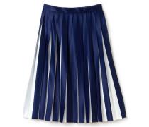 Halblanger Damen-Plisseerock aus zweifarbigem Jersey