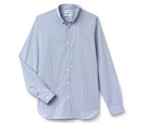 SlimFit Herren-Hemd aus sehr fein karierter Baumwollpopeline