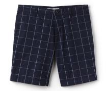 Slim Fit Herren-Bermudas aus Baumwolltwill mit Netzmuster