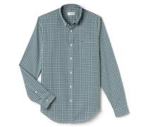 SlimFit Herren-Hemd aus sehr fein karierter Popeline