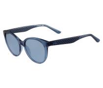 Blaue Sonnenbrille mit Ton-in-Ton-Logo