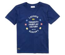 Kinder-T-Shirt aus Baumwolljersey mit nautischen Flaggen