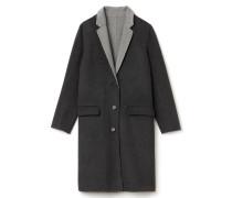 Klassischer langer Damen-Mantel aus Wolle