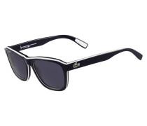 Schwarze Sonnenbrille mit weißer Paspel LT12