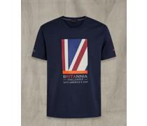 Britannia T-Shirt mit Viertelflagge