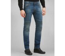 Schmal Geschnittene Eastham Jeans Mittelblau