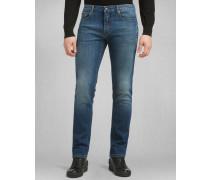 Schmal Geschnittene Bantam Jeans Mittelblau