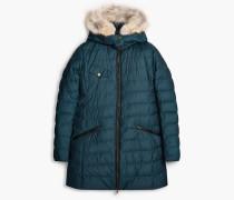 Belstaff Melcombe Down Coat Woman W/Fur Blau