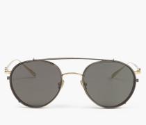 Belstaff Jagged Round Sonnenbrille gold