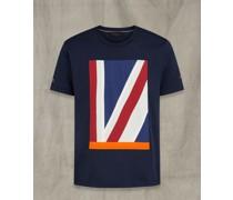 Britannia T-Shirt mit Applikation